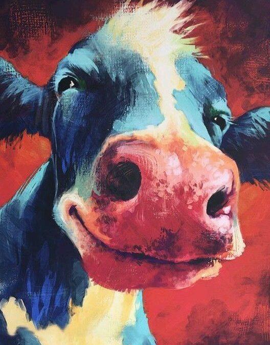 Happy cows give more milk.